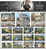 SUSANenderHSwSOON TOBE SOLD BYBERKSHIREHATHAWAYHomeServicesTowne Realty757.552.2073 SUSANPENDER.COM  #1 AGENT FOR SEVEN YEARS, HRRA BeSTUNNING NEW CONSTRUCTIONCAVALIER RESIDENCESPENTHOUSE WITH BAY VIEWSTRANT BERKSHIRE $1,695.000NORTH END  $1,295,000MARINERS MARK  $995.000RUDEE INLETENJOY LIFE ON THE ISLANDCROATAN  $5,750,000LINKHORN OAKS · $3,450,000NORTH END  $3,995.000ALANTON  $2,795,000OCEANFRONTAMAZING WATERFRONT HOMECRYSTAL LAKEDEEP WATERFRONTNORTH END  $2,295,000BAY COLONY $1,895,000LITTLE NECK · $1,799,000BAY COLONY  $2.295,000NORTH END-OCEANSIDE · $1,379,000BIRDNECK POINT  $1,195,000GREAT NECK  $629,900GREAT NECK  $588,9000 ZO SR SAE II, MICNABAD VRA ZSIS-42 AME THEANOE SYSTON berATS, uE SUSAN ender  HS w SOON TO BE SOLD BY BERKSHIRE HATHAWAY HomeServices Towne Realty 757.552.2073 SUSANPENDER.COM  #1 AGENT FOR SEVEN YEARS, HRRA Be STUNNING NEW CONSTRUCTION CAVALIER RESIDENCES PENTHOUSE WITH BAY VIEWS TRANT BERKSHIRE $1,695.000 NORTH END  $1,295,000 MARINERS MARK  $995.000 RUDEE INLET ENJOY LIFE ON THE ISLAND CROATAN  $5,750,000 LINKHORN OAKS · $3,450,000 NORTH END  $3,995.000 ALANTON  $2,795,000 OCEANFRONT AMAZING WATERFRONT HOME CRYSTAL LAKE DEEP WATERFRONT NORTH END  $2,295,000 BAY COLONY $1,895,000 LITTLE NECK · $1,799,000 BAY COLONY  $2.295,000 NORTH END-OCEANSIDE · $1,379,000 BIRDNECK POINT  $1,195,000 GREAT NECK  $629,900 GREAT NECK  $588,900 0 ZO SR SAE II, MICNABAD VRA ZSIS-42 AME THEANOE SYSTON berATS, uE