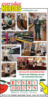 eyerydayHEROES orking for youlWE SALUTE OUR EMPLOYEESRising to the challenge, servingour community every day.EVERYBODY|STAKEAREIWhole Foods Store501 N. 2d St., Fairfield Open Daily 7:30 am -8 pm 641-472-5199 eyeryday HEROES orking for youl WE SALUTE OUR EMPLOYEES Rising to the challenge, serving our community every day. EVERY BODY|S TAKE AREI Whole Foods Store 501 N. 2d St., Fairfield Open Daily 7:30 am -8 pm 641-472-5199