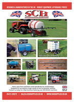 DESIGNED & MANUFACTURED IN THE UK - ROBUST EQUIPMENT, AFFORDABLE PRICES(SUPPIL IES) L IMITEDTowed Powered SpraversSCHFast Tow Animal DrinkersWater Bowsers & DrinkersRough TerrainSkid MouitedExtendable LancesRoad Legal WaterersProfessional SprayersPush Water CartsSCHHeavy-duty farm machinery sized specifically for smallholdings.Designed for use behind a huge variety of farm & domestic vehicles.Contact us today for a free brochure featuring over 200 British machines.MADE INBRITAIN01473 328272 SALES@SCHSUPPLIES.CO.UK  WWW.SCHSUPPLIES.CO.UK DESIGNED & MANUFACTURED IN THE UK - ROBUST EQUIPMENT, AFFORDABLE PRICES (SUPPIL IES) L IMITED Towed Powered Spravers SCH Fast Tow Animal Drinkers Water Bowsers & Drinkers Rough Terrain Skid Mouited Extendable Lances Road Legal Waterers Professional Sprayers Push Water Carts SCH Heavy-duty farm machinery sized specifically for smallholdings. Designed for use behind a huge variety of farm & domestic vehicles. Contact us today for a free brochure featuring over 200 British machines. MADE IN BRITAIN 01473 328272 SALES@SCHSUPPLIES.CO.UK  WWW.SCHSUPPLIES.CO.UK