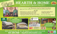 """HEARTH & HOME2020CelebratingTOP PIOK""""Family Owned & Operated Since 1971""""ALMOST 50 YEARDue to Covid-19 our Showroom may be closed, but pleaseCall us: 847-259-7550 or Email Sales@HearthAndHomeUSA.comWE ARE: Face Time Selling Now! Delivering Now! Monitoring our phones and email!Scheduling essential service calls! Allowing Curbside Pick-Ups at our store! Thank You, Stay Healthy & Safe.- The O'Donnell and Schappert Families and the Entire Hearth & Home StaffAMGFREEPIZZA OVENBERLIN GARDENSGIEN MOUNTAN GILLSA $130 VALVE FREE W/ PURCHASEOF ANY GREEN MOUNTAINDANIEL BOONE GRILLNOW THROUGH 5/31/2020$750 OFFANY INSTALLED INSERT FROMFIREPLACE XTRORDINAIRNOW THROUGH 5/31/2020ALL BERLIN GARDENS,% POLY FURNITURENOW THROUGH S/31/2020OFF Some Exclusions ApplyLopiFIREPLACEXTRORDINAIR530 W. Northwest Hwy. (RT. 14)  Mt. Prospect (2 blks. N. of Central, just W. of Rt 83)847.259.7550  HearthAndHomeUSA.comNFIBBB HEARTH & HOME 2020 Celebrating TOP PIOK """"Family Owned & Operated Since 1971"""" ALMOST 50 YEAR Due to Covid-19 our Showroom may be closed, but please Call us: 847-259-7550 or Email Sales@HearthAndHomeUSA.com WE ARE:  Face Time Selling Now!  Delivering Now!  Monitoring our phones and email! Scheduling essential service calls!  Allowing Curbside Pick-Ups at our store! Thank You, Stay Healthy & Safe. - The O'Donnell and Schappert Families and the Entire Hearth & Home Staff AMG FREE PIZZA OVEN BERLIN GARDENS GIEN MOUNTAN GILLS A $130 VALVE FREE W/ PURCHASE OF ANY GREEN MOUNTAIN DANIEL BOONE GRILL NOW THROUGH 5/31/2020 $750 OFF ANY INSTALLED INSERT FROM FIREPLACE XTRORDINAIR NOW THROUGH 5/31/2020 ALL BERLIN GARDENS, % POLY FURNITURE NOW THROUGH S/31/2020 OFF Some Exclusions Apply Lopi FIREPLACE XTRORDINAIR 530 W. Northwest Hwy. (RT. 14)  Mt. Prospect (2 blks. N. of Central, just W. of Rt 83) 847.259.7550  HearthAndHomeUSA.com NFI BBB"""