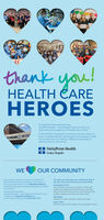 2Ethank you!HEALTH CAREHEROESDuring these extraordinary times,UnityPoint Health - Cedar Rapids wants to show ourappreciation and support to all health care workers.As the COVID-19 pandemic continues to evolve, there aremany incredibly talented, dedicated and courageous healthcare workers who are making a difference every day topatients and our communityUnityPoint HealthCedar RapidsWEOUR COMMUNITYAs we gather together to respond to COVID 19,there are things out community can do to help inthis unprecedented time Our HealthCareHeroescampaign helps demonstrate gratitude for our healthcare workersYour gift now more than ever, will be folt. Even ifyou are not on the front lines, your help will be.All proceeds benefit theUnityPoint Health- Cedar Rapids Compassion Fund.To help, vinit unitypoint.org/heroes orcall St. Luke's Foundation an (3191369-7716Compassion FundYour donation ensures our doctors, nurses andhealth care workers will have the rescurces theyneed at the front lines and our community has themedical supplies and resources they needYard SignsSupport our team members with a yard signSport a ShirtAnother way to show support is to purchase atshirt! 2E thank you! HEALTH CARE HEROES During these extraordinary times, UnityPoint Health - Cedar Rapids wants to show our appreciation and support to all health care workers. As the COVID-19 pandemic continues to evolve, there are many incredibly talented, dedicated and courageous health care workers who are making a difference every day to patients and our community UnityPoint Health Cedar Rapids WE OUR COMMUNITY As we gather together to respond to COVID 19, there are things out community can do to help in this unprecedented time Our HealthCareHeroes campaign helps demonstrate gratitude for our health care workers Your gift now more than ever, will be folt. Even if you are not on the front lines, your help will be. All proceeds benefit the UnityPoint Health- Cedar Rapids Compassion Fund. To help, vinit unitypoint.org/heroes 