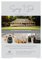 Say1Dto your wedding at The Kings Arms2021 WEDDINGS JUST £65 PER PERSONIncludes the bridal suite for the night prior with a beauty hamper for you and your bridal party to enjoy.Located in the quaint town of Christchurch, overlooking the River Avon and nestled betweenbeautiful castle ruins, The Kings Arms seamlessly blends tradition with exquisite contemporary style.Contact us today to book a private tour or to discuss your dream day.L:01202 588 933 (opt 3) : kings.events@harbourhotels.co.ukO : www.harbourhotels.co.uk/the-kings/wedingsThe Kings ArmsT&Cs apply. Quote 'Dorset Bride' when booking00ssa HARBOUR KINGSwedding ad rese inddcs01000 1542 Say1D to your wedding at The Kings Arms 2021 WEDDINGS JUST £65 PER PERSON Includes the bridal suite for the night prior with a beauty hamper for you and your bridal party to enjoy. Located in the quaint town of Christchurch, overlooking the River Avon and nestled between beautiful castle ruins, The Kings Arms seamlessly blends tradition with exquisite contemporary style. Contact us today to book a private tour or to discuss your dream day. L:01202 588 933 (opt 3) : kings.events@harbourhotels.co.uk O : www.harbourhotels.co.uk/the-kings/wedings The Kings Arms T&Cs apply. Quote 'Dorset Bride' when booking 00ssa HARBOUR KINGSwedding ad rese indd cs01000 1542