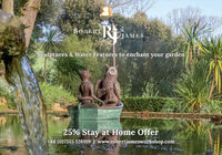 ROBERTRJAMES pSculptures & Water Features to enchant your garden25% Stay at Home Offer+44 (0)7515 126119 | www.robertjamesworkshop.com ROBERTR JAMES p Sculptures & Water Features to enchant your garden 25% Stay at Home Offer +44 (0)7515 126119 | www.robertjamesworkshop.com