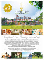 o YEAREENCEPTIONALGLENHURSTMANORbpp,0,1100LUXURY SENIOR LIVINGErcepitienalCare, Stunning SuttoundingrSituated on the West Cliff in Bournemouth, our 33 en-suite bedroomed home offers a warm,welcoming and family atmosphere. We have a team of trained and dedicated staff that bringcompassion and experience to every aspect of their work, providing high quality, professional,person centred care. We put our residents at the heart of everything we do. Every day at Glenhurstis different; take part in a wide range of activities, sit back and enjoy our entertainment programmeor just relax in our beautiful gardens taking in the sea air. You can then choose from our menu ofexcellent home cooked food with complimentary wine.Don't miss out, come along and see for yourself by contacting us today.Glenhurst Manor 44a West Cliff Road Bournemouth Dorset BH4 8BBCall us on 01202 761175 or email info@glenhurstmanor.co.ukwww.GLENHURSTMANOR.Co.UKLONAI CELEBRATINGs1969 2019CAREO o YEARE ENCEPTIONAL GLENHURST MANOR bpp,0,1100 LUXURY SENIOR LIVING Ercepitienal Care, Stunning Suttoundingr Situated on the West Cliff in Bournemouth, our 33 en-suite bedroomed home offers a warm, welcoming and family atmosphere. We have a team of trained and dedicated staff that bring compassion and experience to every aspect of their work, providing high quality, professional, person centred care. We put our residents at the heart of everything we do. Every day at Glenhurst is different; take part in a wide range of activities, sit back and enjoy our entertainment programme or just relax in our beautiful gardens taking in the sea air. You can then choose from our menu of excellent home cooked food with complimentary wine. Don't miss out, come along and see for yourself by contacting us today. Glenhurst Manor 44a West Cliff Road Bournemouth Dorset BH4 8BB Call us on 01202 761175 or email info@glenhurstmanor.co.uk www.GLENHURSTMANOR.Co.UK LONAI CELEBRATING s1969 2019 CAREO