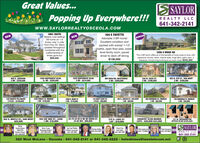 Great Values...S SAYLORPopping Up Everywhere!!!REALTY LLC641-342-2141www.SAYLORREALTYOSCEOLA.COM1963 280TH104 E FAYETTESerene rural setting!5B home on 1.8NEWNEWREDUCEDAdorable 3 BR home!Excellent condition andAcres, only % milefrom Hwy 34. Manyupdates throughoutcombined with thecraftsmanship oftimes gone by!$99,000packed with extras! 1-1/2baths, open floor plan, lowerlevel family room, paveddriver to deck off dining$139,0001200 S RIDGE RDThis 4 BR ranch offers all of the benefits of living close to town withexpansive country views, mature trees, huge deck, patio, barn, 2fireplaces, formal living & dining & so much more! $342,500800 S. JACKSON2 BR - $330,0001409 SOUTHWEST BLVD.3+ BR - $320,0001529 SOUTHWEST BLVD3 BR - $214,000NW VIEW DR.-WESTRIDGE229 W. CASS ST.402 N. STH ST., VAN WERT2 BR - $209,0004 BR - $199,0002 BR - $169,9001249 FOREST ST. MURRAY4 BR - $129,000900 SHERMAN ST., MURRAY3 BR - $62,900316 NORTH FILLMORE1208 N. MAIN ST3 PLEX - $149,9002 BR - $110,000116 WEST CASS ST.3 PLEX - $99,900202 S. LINCOLN ST., VAN WERT3 BR - $69,000729 SHERMAN ST, MURRAY2 BR - $55,000202 S. MAPLE ST., VAN WERT$25,000203 SW 2ND ST., LEON1 BR- $19,90025-75-25 N1/2 NE NE IDAHO ST.24 AC M/L $99,900215 S. LAKE ST.LOT - $19,000COUNTRY CLUB MANOR131 W. WASHINGTONOFFICE BLDG $225,000LOTS - $20,000 $43,000HelemSaylor-KimesGRIUCRSBroker Owner641-340-0181Betty CraigManaging Broker641-34-418Jan Van WinkleBroker Associate641-340-5803Cherri VesSun lalley641-340-189S SAYLORDennis kelley641-414-2097Clint Anderson41-772-5864Pam Soremsen641-342-0622REALTY LLC641-342-2141320 West McLane - Osceola - 641-342-2141 or 641-342-2222 -helenkimes@iowatelecom.net Great Values... S SAYLOR Popping Up Everywhere!!! REALTY LLC 641-342-2141 www.SAYLORREALTYOSCEOLA.COM 1963 280TH 104 E FAYETTE Serene rural setting! 5B home on 1.8 NEW NEW REDUCED Adorable 3 BR home! Excellent condition and Acres, only % mile from Hwy 34. Many updates throughout combined with the craftsmanship of times gone by! $99,000 packed with extras! 1-1/2 baths, open floor plan, lower level family room, paved driver to deck off dining $139,000 1200 S RIDGE RD This 4 BR ranch offers all of the benefits of living close to town with expansive country views, mature trees, huge deck, patio, barn, 2 fireplaces, formal living & dining & so much more! $342,500 800 S. JACKSON 2 BR - $330,000 1409 SOUTHWEST BLVD. 3+ BR - $320,000 1529 SOUTHWEST BLVD 3 BR - $214,000 NW VIEW DR.-WESTRIDGE 229 W. CASS ST. 402 N. STH ST., VAN WERT 2 BR - $209,000 4 BR - $199,000 2 BR - $169,900 1249 FOREST ST. MURRAY 4 BR - $129,000 900 SHERMAN ST., MURRAY 3 BR - $62,900 316 NORTH FILLMORE 1208 N. MAIN ST 3 PLEX - $149,900 2 BR - $110,000 116 WEST CASS ST. 3 PLEX - $99,900 202 S. LINCOLN ST., VAN WERT 3 BR - $69,000 729 SHERMAN ST, MURRAY 2 BR - $55,000 202 S. MAPLE ST., VAN WERT $25,000 203 SW 2ND ST., LEON 1 BR- $19,900 25-75-25 N1/2 NE NE IDAHO ST. 24 AC M/L $99,900 215 S. LAKE ST. LOT - $19,000 COUNTRY CLUB MANOR 131 W. WASHINGTON OFFICE BLDG $225,000 LOTS - $20,000 $43,000 Helem Saylor-Kimes GRIUCRS Broker Owner 641-340-0181 Betty Craig Managing Broker 641-34-418 Jan Van Winkle Broker Associate 641-340-5803 Cherri Ves Sun lalley 641-340-189 S SAYLOR Dennis kelley 641-414-2097 Clint Anderson 41-772-5864 Pam Soremsen 641-342-0622 REALTY LLC 641-342-2141 320 West McLane - Osceola - 641-342-2141 or 641-342-2222 - helenkimes@iowatelecom.net