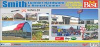 SmithoitLumber Hardware& Rental CenterBestSTORE H OURS:M-F 7:30AM-7PM;SAT. 7:3OAM-5PM;SUN. 12-4PMWINKLERSTRUCTURESSWE CARRY:BestRental CenterSMITH LOMBIRRENTME!Roundup Scotts1525 EAST MAIN STREET, VALLEY CITY  (701) 845-2135fecebook WINKLER order Online at: www.SmithLumberCompany.comTlitwaukeeINDEPENDENTWE STANDSTRUCTIURER Smith oit Lumber Hardware & Rental Center Best STORE H OURS: M-F 7:30AM-7PM; SAT. 7:3OAM-5PM; SUN. 12-4PM WINKLER STRUCTURESS WE CARRY: Best Rental Center SMITH LOMBIR RENT ME! Roundup Scotts 1525 EAST MAIN STREET, VALLEY CITY  (701) 845-2135 fecebook WINKLER order Online at: www.SmithLumberCompany.com Tlitwaukee INDEPENDENT WE STAND STRUCTIURER