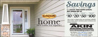 SavingsWITH MAIL-IN REBATEon LARSON° Home Solution products.NOW THROUGH MAY 26!SPEND S100RECEIVESPEND $200SPEND SS00RECEMESPEND S100oRECEIVERECEIVELARSON$10 $20 $50*100homeGet a mail-in rebate when you purchase LARSONstorm doors, storm windows, porch windows andscreen products.AKIN[let's create one together]BUILDING CENTERSwww.akinbuildingcenters.com604 Sheldon  641-782-3310  CrestonM-F 7:30 - 5 Saturday 8 - 4. Sunday CLOSED726 Davis Ave  641-322-3046  Corning Savings WITH MAIL-IN REBATE on LARSON° Home Solution products. NOW THROUGH MAY 26! SPEND S100 RECEIVE SPEND $200 SPEND SS00 RECEME SPEND S100o RECEIVE RECEIVE LARSON $10 $20 $50 *100 home Get a mail-in rebate when you purchase LARSON storm doors, storm windows, porch windows and screen products. AKIN [let's create one together] BUILDING CENTERS www.akinbuildingcenters.com 604 Sheldon  641-782-3310  Creston M-F 7:30 - 5 Saturday 8 - 4. Sunday CLOSED 726 Davis Ave  641-322-3046  Corning