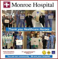 + Monroe Hospitaladecur part.honeredWe areThank you Healthcare Heroestoprther.We arethisall inMembor of Primo Hoalthoare4011 3. Monroe Medioal Park Blvd.Bloomington, IN 47403812-826-1111SAFEPLACEwww.monroehospital.oomYou are our community. We are your hospital. + Monroe Hospital ade cur part. honered We are Thank you Healthcare Heroes toprther. We are this all in Membor of Primo Hoalthoare 4011 3. Monroe Medioal Park Blvd. Bloomington, IN 47403 812-826-1111 SAFE PLACE www.monroehospital.oom You are our community. We are your hospital.