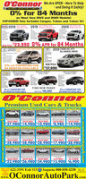 O'Connor We Are OPEN - Here To Help- and Doing It Safely!0% for 84 Monthson Most New 2019 and 2020 Models!CHEVROLET BLICK GMC. CADILLACEXPANDED! Now Includes Canyon, Yukon and Yukon XL!SME 2019 DO RE 2019 MC SIERRA 1500DOUBLE CAB SLE 4x42020 oLE CABA4GMC SIERRA 1500-FineMuch MaSale Price $23,99o 0% APR for 84 Months2019 CADILLAC XT5ALL WHEEL DRIVE2020 BUICK ENCORE PREFERREDAWD3LAunomaticAWheePower Windown & Locks. AWD-Pysh butten StertApple Cer May- Bockup ComereStock 402311MSRF S27,095MP S0% APR FINANCING FOR84 MONTHS AVAILABLESale Price$37,990NEW 2019 CHEVROLETSILVERADO 1500 LTNEW 2020 CHEVROLETTAHDE LS 4WDNEW 2020 CHEVROLETEQUINOK LS AWDDOUBLE CAB 4X4-Prew PeSock eSeck0% APR FINANCING FOR84 MONTHS AVAILABLEFIND NEW ROADSSale Price 46,9900% APR FINANCING FOR84 MONTHS AVAILABLEO CO nnorPremium Used Cars & Trucks2016 Chevrskt lahon LS ded 2012 Cheele boere AD 2013 Ceroit puinca iS AD 2012 Chevrolet Impola u 2017 Nissan AltimaVALUE PRICEVALUE PRICE$27,980 $14,980 $10,980 $8,980 $14,980VALUE PRICEVALUE PRICEVALUE PRICEVALUE PRICEVALUE PRICE$28,980 $28,980 $28,980 $17,980 $28,980VALUE PRICEVALUE PRICEVALUE PRICESh 2w 2006 GMC ConyonVALUE PRICE$22,980 $26,980 $34,980 $15,900 $6,900VALUE PRICEVALUE PRICEAS IS PRICEAS IS PRICENeed Credit 622-3191 Exit 113 95 Augusta 800-850-4250www.OConnorAutoPark.comAssistonce,TextOccreditTo 501238.00-7.00Sat. 8.00-500www.oconnorautopark.comwww.oconnorautopark.com O'Connor We Are OPEN - Here To Help - and Doing It Safely! 0% for 84 Months on Most New 2019 and 2020 Models! CHEVROLET BLICK GMC. CADILLAC EXPANDED! Now Includes Canyon, Yukon and Yukon XL! SME 2019 DO RE 2019 MC SIERRA 1500 DOUBLE CAB SLE 4x4 2020 oLE CABA4 GMC SIERRA 1500 -F ine Much Ma Sale Price $23,99o 0% APR for 84 Months 2019 CADILLAC XT5 ALL WHEEL DRIVE 2020 BUICK ENCORE PREFERRED AWD 3LAunomatic AWhee Power Windown & Locks . AWD -Pysh butten Stert Apple Cer May - Bockup Comere Stock 402311 MSRF S27,095 MP S 0% APR FINANCING FOR 84 MONTHS AVAILABLE Sale Price $37,990 N