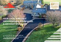 10416FamilyBusinessAwards2019 HIGHLYCOMMENDEDConstruction &Property ExcellenceBROWN (PAVING) LTDYOUR LOCAL & RELIABLEGROUNDWORKS RESURFACING& DRIVEWAY SPECIALISTSDelivering the highest level of quality and workmanshipt. 01773 590159 m. 07970 408728The Old Parsonage, Stonebroom, Derbyshirewww.sbrownpaving.com 104 16 Family Business Awards 2019 HIGHLY COMMENDED Construction & Property Excellence BROWN (PAVING) LTD YOUR LOCAL & RELIABLE GROUNDWORKS RESURFACING & DRIVEWAY SPECIALISTS Delivering the highest level of quality and workmanship t. 01773 590159 m. 07970 408728 The Old Parsonage, Stonebroom, Derbyshire www.sbrownpaving.com
