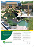 Looking for a Professional Garden & Landscape Company?Turning visions into reality,we aim to exceed clientexpectations by:Cotswold Estates and Gardens Ltd.Consultation & Designestablished in 1965 as Cotswold EstateServices Ltd, has evolved over the yearsProject Management& Constructionto become acknowledged for its highstandards and professional approach toa diverse variety of landscape projects. Working colaboratively with the designerand clent to ensure the best solutions.Our reputation is illustrated by therepeat work we have achieved with well-* Providing highly trained and qualifedMaintenance &recognised designers and clients, on highprofile projects. Our professionally qualifiedpersonnel work together with otherprofessionals and our clients to provide acomprehensive service and quality result.craftspeople and management teams, whotake pride in their workercare Providing high-quality plants and materialsfrom reputabie suppiers. Paying great attention to even the smallestdetals Ensuring that projects mature and arenurtured by our ongoing skilled mainternanceCotswoldEstates & Gardens LtdBALIBaunton Lane. Cirencester, Gloucestershire GL7 78G 01285 654766 infogestatesandgardens.couk www.estatesandgardens.co.uk Looking for a Professional Garden & Landscape Company? Turning visions into reality, we aim to exceed client expectations by: Cotswold Estates and Gardens Ltd. Consultation & Design established in 1965 as Cotswold Estate Services Ltd, has evolved over the years Project Management & Construction to become acknowledged for its high standards and professional approach to a diverse variety of landscape projects.  Working colaboratively with the designer and clent to ensure the best solutions. Our reputation is illustrated by the repeat work we have achieved with well- * Providing highly trained and qualifed Maintenance & recognised designers and clients, on high profile projects. Our professionally qualified personnel work together with other professionals and our clients to provide a comprehensive service and quality result. craftspeople and management teams, who take pride in their work ercare  Providing high-quality plants and materials from reputabie suppiers.  Paying great attention to even the smallest detals  Ensuring that projects mature and are nurtured by our ongoing skilled mainternance Cotswold Estates & Gardens Ltd BALI Baunton Lane. Cirencester, Gloucestershire GL7 78G 01285 654766 infogestatesandgardens.couk www.estatesandgardens.co.uk