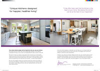 """""""Unique kitchens designed""""It has often been said that the kitchen is theheart of your home. We believe the kitchencan be at the heart of your happiness.""""for happier, healthier living""""Your dream kitchen design will be inspired by how you use your kitchen.We'll take the time to learn how many people get involved in the cooking.understand the flow of your home, and appreciate the daily routine of your life.Once the kitchen design is underway. we can take you on a virtual screen tourto show you exactly how your home could look, and together we'll evolve thedesign to meet your every expectationWe want to help you create a living space that connects you to the peoplearound you and nurtures that instinct to reach out and communicate. To drinkcoffee with friends and eat roast dinners with family. To fip paricakes with thekids and experience new foods with your partner. To share things together,Imagine, if you start your kitchen design journey now, we could be ready to haveour expert fiters booked in with you once we are al safely on the other side ofisolation. And what better way to reconnect with loved ones than by inviting theminto your home to create fresh memories together in your new dream kitchen.We can work together without you having to leave the comfort and safety ofyour home. By meeting virtually' online, we can discuss your kitchen hopesand dreams, share ideas and even see your existing kitchen and help youShipston On Stour, Warwickshire CV36 4EW01608 690 870 www.bowerwillisdesigns.co.uktake measurements.BOWER WILLIS DESIGNS """"Unique kitchens designed """"It has often been said that the kitchen is the heart of your home. We believe the kitchen can be at the heart of your happiness."""" for happier, healthier living"""" Your dream kitchen design will be inspired by how you use your kitchen. We'll take the time to learn how many people get involved in the cooking. understand the flow of your home, and appreciate the daily routine of your life. Once the kitchen design is unde"""