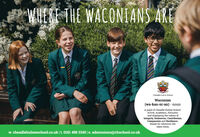 WHEKE THE WACONIANS ARECheadle Hulme SchoolWaconian(wa-kau-ni-an) - nounpupil of Cheadle Hulme School.Active, Academic, Altruisticand displaying the values ofIntegrity, Endeavour, Contribution,Compassion and Resilience.Ready for wherever lifetakes them.w. cheadlehulmeschool.co.uk  t. 0161 488 3345   e. admissions@chschool.co.uk WHEKE THE WACONIANS ARE Cheadle Hulme School Waconian (wa-kau-ni-an) - noun pupil of Cheadle Hulme School. Active, Academic, Altruistic and displaying the values of Integrity, Endeavour, Contribution, Compassion and Resilience. Ready for wherever life takes them. w. cheadlehulmeschool.co.uk  t. 0161 488 3345   e. admissions@chschool.co.uk