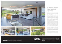 A stunning kitchenfor a 'glass box'eco homeEgrtyears age Tacy and Paustated to bula erdream home an oco house but in to the hisidewith a snpended gans tox mat makes most ofhe sumoundrg landicape.A bour of love designed to have imited veuaand ecologica mcact, every aspect of the housewas metculously plarned, with the ktchen fominga maor part of he gloss box frst foor Tracy andPa wanted a cortomporary ktchen ang reededsomeone who could work with ther renowredarchitects and produce a outing edge design tratwas sympathetic to the overal design and madethe most of the sturning vews.Daria Honela a San Fraer was rocommendedoem and tom er est vit te Rtce Veyhowoom they wore improsed wth Daniers panionmd eontedge. They loved the dsgn Oanel cameup wih, in cortcu te concoed uity rat fotodandy fom ore of he ss, mering te viewwore not obsoured and the utity ario counit been trom the rede or outide.A predominanty whte pato workod with the viewbeyond and a clever inection of oolour trom theborch seating added a hrt of tun and contastDospte te spoce berg so lage, he fnishedktchen teeis homey and inveng and enhancos thepace pertoctytacy and Pa ae deigtod with Danel and StartFraer and have recommended them to numeroustends and asnociatos, sone of whom are buidingsimler eco houneStuartFrazerMANCHESTER64 56 Bury Naw Hoad H Merchr M 0 urchon M Tel 0101 7900PRESTON4.6Sary Preston. Lat PRI AT nmow ccpote pror Tel o172 204004SieMatic To see more of this and other fabulous kitchensvisit the case studies page on our website.RLE VALLEYFrendse MWhy Road Reat Lancwww.stuartfrazer.comTal 012 T00 A stunning kitchen for a 'glass box' eco home Egrtyears age Tacy and Paustated to bula er dream home an oco house but in to the hiside with a snpended gans tox mat makes most of he sumoundrg landicape. A bour of love designed to have imited veua and ecologica mcact, every aspect of the house was metculously plarned, with the ktchen foming a maor part of he gloss box frst foor Tracy and Pa wanted a cortom