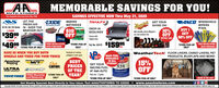 """AAMEMORABLE SAVINGS FOR YOU!AUTO STORESTeur Memstomn Aute Phrts Sters leSAVINGS EFFECTIVE NOW Thru May 31, 2020EXIDE MARINEANCO WINDSHIELDWIPERSAll SeriesLET THETRAILFXGET YOURSHINE ON!MesdherFRESH AIRBATTERIESTECHNOLOGIES92-94-192-194 Series IN - KEEP THE2 DOORBUY IGET50% OFFDROP-INBEDLINER10%OFFENTIRE LINEWEATHER OUT!A&A proudly caries Meguiar'scar care product line$3999OFFComes withpr.4 DOOREXIDEtalgate liner$4999FREE INSTALLATIONpr. """"STORE PICK-UP ONLY WITH PURCHASESTORE PICK-UP Par M. 2017x $15995*STORE PICK-UP FREE INSTALLATIONONLYONLYTea.WITH PURCHASESAVE SS WHEN YOU BUY BOTHWHEELS AND TIRES FOR YOUR TRUCKWeatherTech FLOOR LINERS, CARGO LINERS, PETPRODUCTS, MUDFLAPS AND MORE!Hundreds of combesaalable in each storeRACE FUELAVAILABLEMICEY THO ONM/T15%OFFAmericanRaangBESTIN ALLGET YOUR STORES!C12RACING FUELDickPRICESOF THEYEAR!CEPEKULTRAPROCOMPWHEEL COMANYAT A&A AUTOMAW POWERFREE Mounting """"STORE PICK-UPONLYPack size - 5 gallonTOYOTIRES and Balancing*STORE PICK-UP ONLY*STORE PICK-UP ONLYMADE IN THE SAIGet Weekly Specials Sent Directly to Your Inbox: Text AAAUTOSTORES TO 22828www.aaautostores.comCopyright 02020, Al rights reserved. Al tet graphics, pictures, logos, and the selection and amrangement thereof is the oclusive property of the Publisher or s content Supplier. No portion of this add, incuding imagen, may be reproduced in any form without prior writen coment of the Publisher. Valid tru May 31st AA MEMORABLE SAVINGS FOR YOU! AUTO STORES Teur Memstomn Aute Phrts Sters le SAVINGS EFFECTIVE NOW Thru May 31, 2020 EXIDE MARINE ANCO WINDSHIELD WIPERS All Series LET THE TRAILFX GET YOUR SHINE ON! Mesdher FRESH AIR BATTERIES TECHNOLOGIES 92-94-192-194 Series IN - KEEP THE 2 DOOR BUY I GET 50% OFF DROP-IN BEDLINER 10% OFF ENTIRE LINE WEATHER OUT! A&A proudly caries Meguiar's car care product line $3999 OFF Comes with pr. 4 DOOR EXIDE talgate liner $4999 FREE INSTALLATION pr. """"STORE PICK-UP ONLY WITH PURCHASE STORE PICK-UP Par M. 2017x $15995 *STORE PICK-UP FREE INS"""