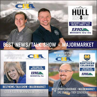 AWARDED BY THECBATHEHULLSHOWCOLORADO'S SOURCE FORTHE BEST SPORTS TALK1310KEKWEEKDAYS 12PM-2PMBEST NEWS/TALK SHOW - MAJORMARKETAWARDED CERTIFICATE CBAOF MERIT BY THEAWARDED CERTIFICATEOF MERIT BY THE:CAColorado broadcaperS AssoCIonionColorodo troodcortes AsociationUNIVERSITY BFNORTHERNCOLORADOYOUR SOURCE FORNOCONEWS COVERAGEYOUR SOURCE FORUNC BEARS COVERAGE13101310WEEKDAYS Brm -SaMBESTNEWS/TALK SHOW-MAJORMARKETGAIL FALLEN: MORNINGS WITH GAILBEST SPORTSCOVERAGE-MAJORMARKETUNC BEARS+ TROY COVERDALE AWARDED BY THE CBA THE HULL SHOW COLORADO'S SOURCE FOR THE BEST SPORTS TALK 1310 KEK WEEKDAYS 12PM-2PM BEST NEWS/TALK SHOW - MAJORMARKET AWARDED CERTIFICATE CBA OF MERIT BY THE AWARDED CERTIFICATE OF MERIT BY THE: CA Colorado broadcaperS AssoCIonion Colorodo troodcortes Asociation UNIVERSITY BF NORTHERN COLORADO YOUR SOURCE FOR NOCONEWS COVERAGE YOUR SOURCE FOR UNC BEARS COVERAGE 1310 1310 WEEKDAYS Brm -SaM BESTNEWS/TALK SHOW-MAJORMARKET GAIL FALLEN: MORNINGS WITH GAIL BEST SPORTSCOVERAGE-MAJORMARKET UNC BEARS+ TROY COVERDALE