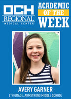 OCHACADEMICOF THEREGIONALWEEKMEDICAL CENTERAVERY GARNER6TH GRADE, ARMSTRONG MIDDLE SCHOOL OCH ACADEMIC OF THE REGIONAL WEEK MEDICAL CENTER AVERY GARNER 6TH GRADE, ARMSTRONG MIDDLE SCHOOL