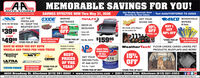 """MEMORABLE SAVINGS FOR YOU!AUTO STORESTeur Benstes Aste Parti Stare Sisce 19Get Weekly Specials Sent Text AAAUTOSTORES TO 22828Directly to Your Inbox:SAVINGS EFFECTIVE NOW Thru May 31, 2020EXIDE MARINETECHNOLOGIESANCO, WINDSHIELDLET THETRAILFXGET YOURFRESH AIRBATTERIESAheat of the CarveSHINE ON!WIPERS82-84-192-194 Series IN - KEEP THE2 DOOR$39 99All Series$10DROP-INBEDLINER10%OFFBUY IWEATHER OUT! ESINTERSTATEABA proudy caries Meguiar'scar care praduct lineGET50% OFFComes withEXILpr.4 DOORtalgate inerENTIRE LINE$4999pr. """"STORE PICK-UP ONLY WITN PURCHASESTORE PICK-UP Part Na 20ox $15995FREE INSTALLATIONFREE INSTALLATION*STORE PICK-UPONLY*ea.ONLYWITH PURCHASESAVE SS WHEN YOU BUY BOTHHundreds of combasavalable in each storeWeatherTech FLOOR LINERS, CARGO LINERS, PETPRODUCTS, MUDFLAPS AND MORE!RACE FUELAVAILABLEWHEELS AND TIRES FOR YOUR TRUCKBESTPRICESOF THEYEAR!OKEY THOM ONM/T15%OFFAmericanRacingIN ALLGET YOUR STORES!RACING FUELAT A&A AUTODishCEPEKC12ULTRAPROCOMPWHEEL COMPNYAKW POWE""""STORE PICK-UPPack size - 5 gallonTOYO TIRESFREE MOUNTINGAND BALANCINGONLY*STORE PICK-UP ONLY*STORE PICK-UP ONLYMADE IN THE USAI4630 Broadway St. Allentown (610) 391-9660  www.aaautostores.com  2301 Union Blvd. Allentown (610) 821-0303Copyright 0220. Al rights reserved. All tet, graphics, pictures, logos, and the selection and arrangement thereof is the exclusive property of the Publisher or is content Supplier. No portion of his add, incdluding images, may be reproduced in any farm without prior witen consent of the Publisher Valid theu May 31st MEMORABLE SAVINGS FOR YOU! AUTO STORES Teur Benstes Aste Parti Stare Sisce 19 Get Weekly Specials Sent Text AAAUTOSTORES TO 22828 Directly to Your Inbox: SAVINGS EFFECTIVE NOW Thru May 31, 2020 EXIDE MARINE TECHNOLOGIES ANCO, WINDSHIELD LET THE TRAILFX GET YOUR FRESH AIR BATTERIES Aheat of the Carve SHINE ON! WIPERS 82-84-192-194 Series IN - KEEP THE 2 DOOR $39 99 All Series $10 DROP-IN BEDLINER 10% OFF BUY I WEATHER OUT! ES INTERSTATE ABA proudy cari"""