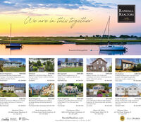 """RANDALL,REALTORSre in this TogeltherLeading#weareinthistogetherSouth KingstownQuintessential New England beachCottage in the seaside village associationof Mautucket-By-The-Sea.Travis JusticeWickfordWaterfront in Wickford Village. Restorethis 5 br 2 bath Historic Colonial with bamon half acre lot.$859,000$799,000$449,800$399,000NarragansettHarour Island neighborhood. 2bedroom, 1.5 bathroom Ranch withwater views.Sheil Realty TeamWickfordCharlestown$389,500Historic Colonial, 3 br 2 bath withcompletely new interior while keeping thecharm. Cute yard, garage.Privately situated Cape Cod style homelocated in the highly sought afterWatchaug Heights neighborhood.Travis Justice401.369.0458Sue Moore401.952.9164401.243.7041Sara Andrews401.864.3254401.369.0458CoventryColonial was built in 1989 sits on a 5 acrelot in a quiet, rural area of Coventry aperfect retreat.Brian McDonaldCranston3 br 2 bath Ranch offers kit with stainless& granite, AC, fenced yard with sprinklers,renovated deck.$380,000South KingstownWonderfully maintained 2 br Condo inan estate setting overlooking beautifulgrounds.$369,000South KingstownLooking for a turmkey Ranch with accessto the beach? If so, then you havearrived.$350,000$275,000South KingstownNicely maintained Condo located onbus line and close to URI and areabeaches.$175,000401.258.9814Paul Robinson/Mare Archambault 401.207.5768Chris Randal857.540.1594Lisa Cohen401.451.6233Wendeth O'Neill401.447.5897North Kingstown Office23 Brown Street, North Kingstown, RI401.294.4000Charlestown Office4009 Old Post Road, Charlestown, RI401.364.3388Westerly Office241 Post Road, Westerly, RI401.322.0357Wakefield OfficeWatch Hill Office124 Bay Street, Watch Hill, RI401.348.0700235 Main Street, Wakefield, RI401.783.9611RandallRealtors.comLUXURYLeadingREAL ESTATECOMPANIES# t WORLOPORTFOLIOINTERNATIONAREALTRENDSFIVE HUNDRER.""""Source RIMLS 1 Real Estate Company Jan. 1, 1991-0Dec. 31, 2019 RANDALL, REALTORS re in this Togelther Leading #weareinthistogether South Kingstown Qu"""
