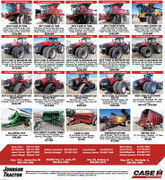 0% Financing for 60 months!0% Financing for 60 months!0% Financing for 60 months0% Financing for 60 monthst0% Financing for 60 monthsl2014 CASE IH 82301480 hours, 620-42 Duals, FieldTracker, Rock Trap, Com/Soybean,Power Fold Bin Covers, Chpr, Luxury$162,5000% Financing for 36 months!2012 CLAAS LEXION 7302012 CASE IH 72301610 hours, 20.8-42 Duals, FieldTracker, Rock Trap, Com/Soybean,Chpr, Guidance Rdy. Power Fold$134,5000% Financing for 36 months!2017 CASE IH 7240725 hours, 20.8-42 Duals, Rock Trap.Con/Soybean, Power Fold Bin Cover,Chper, Folding Unload Auger, Luxury$239,5000% Financing for 36 months!2016 CASE IH 72401080 hours, 20.8-42 Duals, FieldTracker, Rocktrap. Com/Soybean,Power Fold Bin, Chpr, Lukury$212,5000% Financing for 36 monthsl1235 hours, 20.8-42 Duals, FieldTracker, Rock Trap, Com/Soybean,Power Fold Bin Cover, Chpr$119,5000% Financing for 36 months!2019 CASE IH MAGNUM 280 2019 CASE IH MAGNUM 310 2019 CASE IH MAGNUM 310 2019 CASE IH MAGNUM 340 2019 CASE IH MAGNUM 340205 hours, 18.4-50 Duals, Suspendod 200 hours, 18.4-50 Duals, Suspended 255 hours, 18.4-50 Duals, Suspended 200 hours, 18.4-50 Duals, Suspended 200 hours, 18.4-50 Duals, SuspendedFrt Axle w Dis, Guidance Complete,3PI, Deluxe Suspended Cab$219,500Frt Axde w Dis. Guldance Complete, Frt Axle w Dis. Guidance Complete, 3Pt, Frt Axle w 380-28 Dis. Guidance, 3Pt, Frt Axle w/ Dis, Guidance Complete,3Pt, 540/1000/1000 PTO, 30 MPHTrans, 5 Valves, Luxury540/1000/1000 PTO, 30 MPH Trans, 5Valves, Luxury$236,5000% Financing for 12 months!540/1000/1000 PTO, 30 MPHPowershift Trans, Luxury$259,5000% Financing for 48 months!3PL 1000 PTO$243,500$239,5000% Financing for 12 months!0% Financing for 12 months!RENTAL SPECIAL2019 CASE IH STEIGER 620 2019 CASE IH STEIGER 620 2019 CASE IH STEIGER 620QUADTRAC400 hours, 330 HD Tracks, GuidanceComplete, 1000 PTO, Parallel HydPumps, Luxury, 6 Valves$419,0002020 CASE IH STEIGER500 HD18.4-50 Duals, Powershift, 3Pt, 1000PTO, Guidance Complete, 5 Valves,Luxury200 Hrs - $18,0