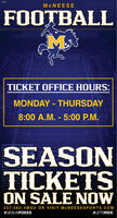 MCNEESEFOOTBALL158TICKET OFFICE HOURS:MONDAY - THURSDAY8:00 A.M. - 5:00 P.M.SEASONTICKETSON SALE NOW337-562-4MSU OR VISIT MCNEESESPORTS.COM#GEAUXPOKES#LETSRIDE MCNEESE FOOTBALL 158 TICKET OFFICE HOURS: MONDAY - THURSDAY 8:00 A.M. - 5:00 P.M. SEASON TICKETS ON SALE NOW 337-562-4MSU OR VISIT MCNEESESPORTS.COM #GEAUXPOKES #LETSRIDE