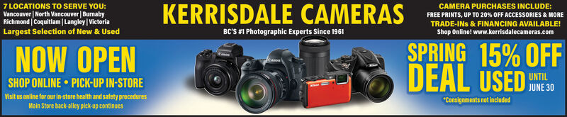 """7 LOCATIONS TO SERVE YOU:Vancouver 