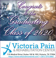 utsto theGrdiatingClass of 2020Victoria Pain& REHABILITATION CENTER115 Medical Drive | Suites 102 & 105 | Victoria, TX 77904https://www.wilsonalmontemd.com/  (361) 575-2882 uts to the Grdiating Class of 2020 Victoria Pain & REHABILITATION CENTER 115 Medical Drive | Suites 102 & 105 | Victoria, TX 77904 https://www.wilsonalmontemd.com/  (361) 575-2882