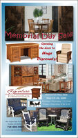 Memorta Day saleeningthe door toHugeDiscounts!SignalureFURNISHINGSMemorial Day SaleMay 25-30, 2020Monday-Thursday 11-5:30Friday-Saturday 9:30-5:30805 Eagleridge Bvld stPueblo có 81005719-696-9969www.signaturefinefurnishings.com Memorta Day sale ening the door to Huge Discounts! Signalure FURNISHINGS Memorial Day Sale May 25-30, 2020 Monday-Thursday 11-5:30 Friday-Saturday 9:30-5:30 805 Eagleridge Bvld st Pueblo có 81005 719-696-9969 www.signaturefinefurnishings.com