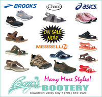 >BROOKSChacoOasics.ON SALENOWMERRELL(MMany More Styles!BOOTERYDowntown Valley City  (701) 845-1523 >BROOKS Chaco Oasics. ON SALE NOW MERRELL(M Many More Styles! BOOTERY Downtown Valley City  (701) 845-1523