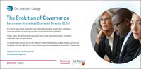 The Directors CollegeThe Evolution of GovernanceBecome an Accredited Chartered Director (C.Dir)In a time of rapid change, responsible and sustainable govemance around ethics, compliance,social responsibility and fiduciary oversight is more important than ever before.Private, Public, Not-for-Profit and Crown boards must evolve and embrace diversity, innovation,stakeholder value and agile thinking.Go beyond theory and raise the art and impact of directorship by bringing strategic thinking, curiosity andintegrity to the board table through unique, immersive programs that address the evolution of governance.Register Now for Fall 2020 Modulesthedirectorscollege.comDeGroote McMasterUniversityBRIGHTER WORLD The Directors College The Evolution of Governance Become an Accredited Chartered Director (C.Dir) In a time of rapid change, responsible and sustainable govemance around ethics, compliance, social responsibility and fiduciary oversight is more important than ever before. Private, Public, Not-for-Profit and Crown boards must evolve and embrace diversity, innovation, stakeholder value and agile thinking. Go beyond theory and raise the art and impact of directorship by bringing strategic thinking, curiosity and integrity to the board table through unique, immersive programs that address the evolution of governance. Register Now for Fall 2020 Modules thedirectorscollege.com DeGroote McMaster University BRIGHTER WORLD