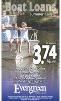 Boat LoansSummer Callsas low as374% APRApply 24/7 | Close Online(888) 294-2572Or onsite at oneof our local dealer partnersDetails: egcu.org/recEvergreenSMCredit Union1Annual Percentage Rate as of 5/25/2020. Rates subject to changewithout notice. Ñot all applicants will qualify for the lowest rate.Federally insured by NCA Boat Loans Summer Calls as low as 374 % APR Apply 24/7 | Close Online (888) 294-2572 Or onsite at one of our local dealer partners Details: egcu.org/rec Evergreen SM Credit Union 1Annual Percentage Rate as of 5/25/2020. Rates subject to change without notice. Ñot all applicants will qualify for the lowest rate. Federally insured by NCA
