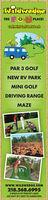 wiawedgeTHE GPLACE!Golf, Mini Golf & RV ParkPAR 3 GOLFNEW RV PARKMINI GOLFDRIVING RANGEwww.WILDWEDGE.COM218.568.69952 MILES N OF PEQUOT LAKESON HWY 371 NEXT TO AMERICINN wiawedge THE G PLACE! Golf, Mini Golf & RV Park PAR 3 GOLF NEW RV PARK MINI GOLF DRIVING RANGE  www.WILDWEDGE.COM 218.568.6995 2 MILES N OF PEQUOT LAKES ON HWY 371 NEXT TO AMERICINN