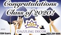 agratulationsClass of 2020!303032DAZZLING DECOR1304 Scurry(432) 264-6000 agratulations Class of 2020! 303032 DAZZLING DECOR 1304 Scurry (432) 264-6000