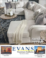 Sectional$1,999EVANSEVANSFurniture Galleries*See store for detailsYuba City, Highway 99530-673-27452101 Dr. MartinLuther King Jr. Pkwy., Chico530-895-3000 Sectional $1,999 EVANS EVANS Furniture Galleries *See store for details Yuba City, Highway 99 530-673-2745 2101 Dr. Martin Luther King Jr. Pkwy., Chico 530-895-3000