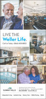 LIVE THEWeller Life.Call Us Today · (864) 408-8850Sportonburgis Premier Life Plon Community110 Summit Hills Drive · Spartanburg. SC 29307SUMMIT HILLS(864) 408-8850 - Summit-Hills.comIndependent Living · Assisted Living · Memory Care · Skilled Nursing · Rehab LIVE THE Weller Life. Call Us Today · (864) 408-8850 Sportonburgis Premier Life Plon Community 110 Summit Hills Drive · Spartanburg. SC 29307 SUMMIT HILLS (864) 408-8850 - Summit-Hills.com Independent Living · Assisted Living · Memory Care · Skilled Nursing · Rehab