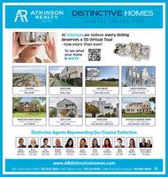 ARATKINSONREALTYDISTINCTIVE HOMESCOASTAL COLLECTIONSINCE 1943At Atkinson,we believe every listingdeserves a 3D Virtual Tour- now more than ever!To see whatyour homeis worthCROATAN2 BULDABLE LOTS I S1,195,000NORTH ENDDUPLEXI $L175,000MARK LLOBELLBEACH BOROUGH2 INVESTMENT UNITSI $1.031000HEATHER STERLINGLARCHMONT4 BEDS/25 BATHS I $1.090,000BONNY MACLACHLANPAGE MIYARESESTATES AT MUNDEN FARMS4 BEDS /2.5 BATHS I S61.000CHAS FERGUSON / LARRY BLUMBROAD BAY POINT GREENSCAPE STORYNORTH END4 BEDS / 3.5 BATHS I S785.000CLAY ATKINSON4 BEDS / 2.5 BATHS I $699.000MARK LLOBELL4 BEDS/2.5 BATHS I $679.000CHAS FERGUSON / LARRY BLUMDistinctive Agents Representing Our Coastal CollectionBetsyAtkinsonBonnyMaclachlanClayAtkinsonHeatherSterling724-1733Joanne C.FriedensonKarenStewartKristyDrumLindaForehandMarkLlobellPageMiyares201-2888Chas Ferguson& Larry Blum416-8280438-2505635-3502285-7055754-1022574-7839449-2963477-0055572-5412www.ARdistinctivehomes.com932 Laskin Road #300 I 757.425.2500 1 5307 Atlantic Ave I 757.321.1000   2106 Great Neck Square I 757.963.9600 AR ATKINSON REALTY DISTINCTIVE HOMES COASTAL COLLECTION SINCE 1943 At Atkinson,we believe every listing deserves a 3D Virtual Tour - now more than ever! To see what your home is worth CROATAN 2 BULDABLE LOTS I S1,195,000 NORTH END DUPLEXI $L175,000 MARK LLOBELL BEACH BOROUGH 2 INVESTMENT UNITSI $1.031000 HEATHER STERLING LARCHMONT 4 BEDS/25 BATHS I $1.090,000 BONNY MACLACHLAN PAGE MIYARES ESTATES AT MUNDEN FARMS 4 BEDS /2.5 BATHS I S61.000 CHAS FERGUSON / LARRY BLUM BROAD BAY POINT GREENS CAPE STORY NORTH END 4 BEDS / 3.5 BATHS I S785.000 CLAY ATKINSON 4 BEDS / 2.5 BATHS I $699.000 MARK LLOBELL 4 BEDS/2.5 BATHS I $679.000 CHAS FERGUSON / LARRY BLUM Distinctive Agents Representing Our Coastal Collection Betsy Atkinson Bonny Maclachlan Clay Atkinson Heather Sterling 724-1733 Joanne C. Friedenson Karen Stewart Kristy Drum Linda Forehand Mark Llobell Page Miyares 201-2888 Chas Ferguson & Larry Blum 416-8280 438-2505 635-3502 285-7055 