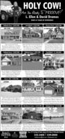 """HOLY COW!Are You Ready To """"MO0OVE?L. Ellen & David DramesOVER 34 YEARS OF EXPERIENCENollond Area  $359,900NEW LISTINGHerons Point $529,900Smithfeld  $729,900WATERFRONTIIST FLOOR MASTERNew Condtruction! FirstsSecond Floors Bedrooms, 3 full BathaGreat Room With Fireploce, Appron.2.500 Sa , All This Stuated On 3 Acresl low Suite & Amached 2 Car GaragelCope Cod Style Homel Sitvoted On The l Roor Mester 5 Bedroom, 45 ButhoonsPogan fiver, Acre lot, Boot Lih & Dock,40r 5 Bedrooms Over 4000 Sq F, Informol Dining Roon, Great Roon, lat FoorGuet Roon, nd Foor Gone loon, largeOpen floor Plon. Ovensized 2 Car GorogelSmithfield  $1,260,000RIVERFRONTIHolland Area  $339,900Holland Area  $299,900NEW CONSTRUCTION3 ACRESAre You Ready To MOOOVER RonchStyle, 4 Bedrooms, 3 Baths, GreatRoom, Approximately 2.200 Sq Ft.Ronch Style, Attoched Goroge3 Spocious Bedrooms 2 Baths,Great Room, Eot in Kitchen,The Berrymon Monsionl Overlooks The PegonEver, Approsinetely 7000 Sq Ft, 5 BedroomsHis & Her Forlors Librory, Detoched GorageCovered Bock Forch & Per Boat Dock!Situated On 3 Acres!Approxinately 1,700 Sq. FEverets  Route 10 $194,900Holland Area  $329,900NEW LISTINGRoute 460  $598,900LAKEFRONTUNDER CONTRACTloietort Sihuated On loke Cohoon, AlBridk Home, 6.58 Acres. Over 5,000 Sq Ft, 2 Situated On Approximately I Acre,Master Sultes On The fint Floor, Gone Room 3 Bedrooms, Greot Room, Eat in Kitchen, Berhroom Great Open Floor Plan. CoveredOver 3 Car Goroge & Screened Sun Porchl laundry Area, All New Inside & OutNew Constuctionl The Nicole Model,Approxinately 2.200 Sa h, 4 Bedroons 25Cute As A Bugl Ranch Style. DeckPordh, 2 Cor Garoge & Sitated On 3 Acres!Holland Area  $149,900Westhaven Lakes  $55,000Westhaven Lakes  $559,900UNDER CONTRACTLAKEFRONT14 ACRESloietont Contenp Style Hone Approx 4300 SE Dod, Fier 120 Acres Privete Cul-De Soc5Bedroons 5 Borhroom, Sunoon. Great Room,Beautiul Courtry land Horses Allowed,Perk Site Approved, Rood frontogeFloor Bedroom, formd Living & Dining Rooms 4Bedrooms, 3 """