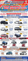 MERKE HAISTOPHERCHEVROLETGMCAuto CenteroRamily OwnedOoperated Sinco 1075*GUICKCALIFORNIAS #1. VOLUME GM DEALER!GIANT MEMORIAL DAYBEST TIME TO BUY SALE!SALE CONTINUES TODAY!SHOP FROM HOME 24/7 AT www.MARKCHRISTOPHER.COMThe Mark Christopher Automotive team is committed to giving you the buying experience thatmakes you the most comfortable. Sales, Leasing, and Service Departments open.0%84***Home delivery, we make it easy. 120 DAYSTO PATMENTI ON SELECTMODELS ON APPROVED CREDIT.FOR O MOS!855-611-5087ON LECT MaON ovo oTMARK CHRISTOPHER CARESNEWCHEVY EQUINOX LSCHEVY MALIBU LTSAVE$7,000MAREC wALECTORY RATE JUSAVES6,000MARK CHDECMI EFACTORYATE eNET CONTNET COT$21,375$21,665ALL IN STOCKLe terleCHEVY BLAZER LTNEW CHEVY TRAVERSE LSmie v TSAVE$7,000SAVE$5,715MARKOSALEYACTORY REATENET COSTMMANKCIOSALETACTORY ANET COST$26,495$28,995velbenNEW CHEVY TAHOE LTLasconcava TRANG NTRTO AMNCEVTIOTAINMENT SYSTEMECHEVY SUBURBAN LTCKET WITHNATIONAONAL COLOR TOOCRENA coa NM NPOAUTOMATICMAX TAERING ACKA UMINATLACK BOWR. r wiE.ACKAPLECSAVE$10,590SAVES12,540MARKCHIte 0SALEPTFATORYREBAENET COSTracTORY EBATE$49,995NET COST$45,995TuPrwio egered der 00GMC MARK CHRISTOPHER OME ro MNEWDGMC SIERRA S00 4ND CREW CAB SLT 020 GNC TERRAIN SLENEWEDZDGMC ACADIA SLEAontt rer aAANMERSSTATEN238289SAVE45,210MPRI ABUICK MARK CHRISTOPHERNEW 2020 BUICK ENCORE PREFERREDUICK HERE O HNEW 2020 BUICK ENCLAVE ESSENCENOIN A V Y SPeeD AuTOMAc TRAN On, AND MOE10AT T OR PICKA COLOO VEC STAE SSEM5O DOWN SO FIRST PAYMENTSO DOWN SO FRST PAYMENTLEASE FORLEASE FORMO$199$359pedwww.markchristopher.com FINO NEW ROADS855-611-5087COVEMENT LICAT211 Convention Cetar ay, Outari, CA4e 10T areighar dd feeinecTION AL Didivery MERKE HAISTOPHER CHEVROLET GMC Auto CenteroRamily OwnedOoperated Sinco 1075* GUICK CALIFORNIAS #1. VOLUME GM DEALER! GIANT MEMORIAL DAY BEST TIME TO BUY SALE! SALE CONTINUES TODAY! SHOP FROM HOME 24/7 AT www.MARKCHRISTOPHER.COM The Mark Christopher Automotive team is committed to giving you the buying experience that ma