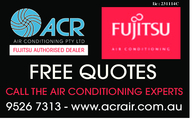 L : 231114CicFUJITSU AUTHORISED DEALERFREE QUOTESCALL THE AIR CONDITIONING EXPERTS9526 7313 - www.acrair.com.au
