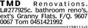TMD Renovations.L#277925c. bathroom reno's,ext's Granny Flats. F/Q. 96070067 Tom 045142199221581 1 1 v2