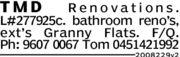 TMDRenovationsL#277925c. bathroom reno's,ext's Granny Flats.F/QPh: 9607 0067 Tom 04514219922008229v2