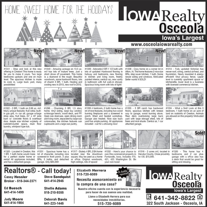 Osceola Sentinel-Tribune Business Directory: Coupons