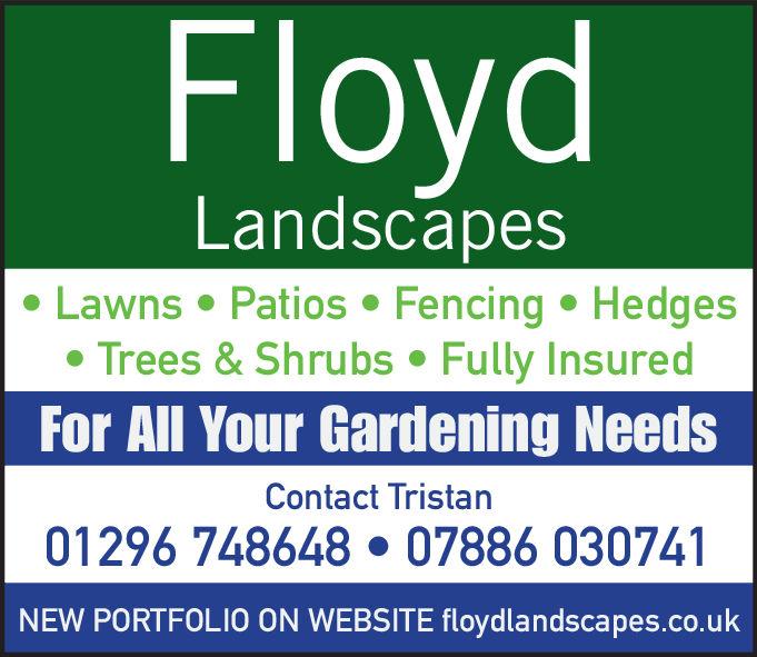 FloydLandscapesLawns Patios Fencing Hedges Trees & Shrubs . Fully InsuredFor All Your Gardening NeedsContact Tristan01296 748648 07886 030741NEW PORTFOLIO ON WEBSITE floydlandscapes.co.uk