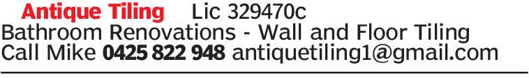 Antique Tiling Lic 329470cBathroom Renovations Wall and Floor TilingCall Mike 0425 822 948 antiquetiling1@gmail.com