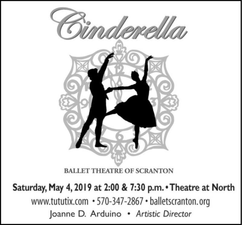 inderdlaBALLET THEATRE OF SCRANTONSaturday, May 4,2019 at 2:00 & 7:30 p.m..Theatre at Northwww.tututix.com.570-347-2867 balletscranton.orgJoanne D. Arduino . Artistic Director