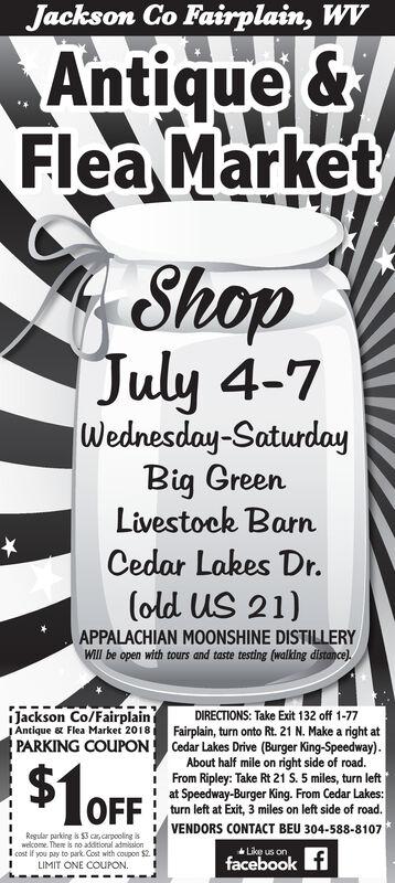 Monday June 17 2019 Ad Jackson County Fairplain S Antique Flea Market Jackson Newspapers