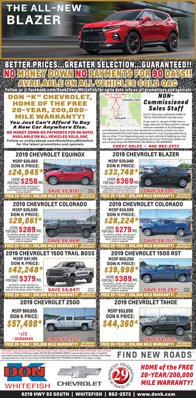 Sunday September 8 2019 Ad Don K Chevrolet Whitefish Daily Inter Lake