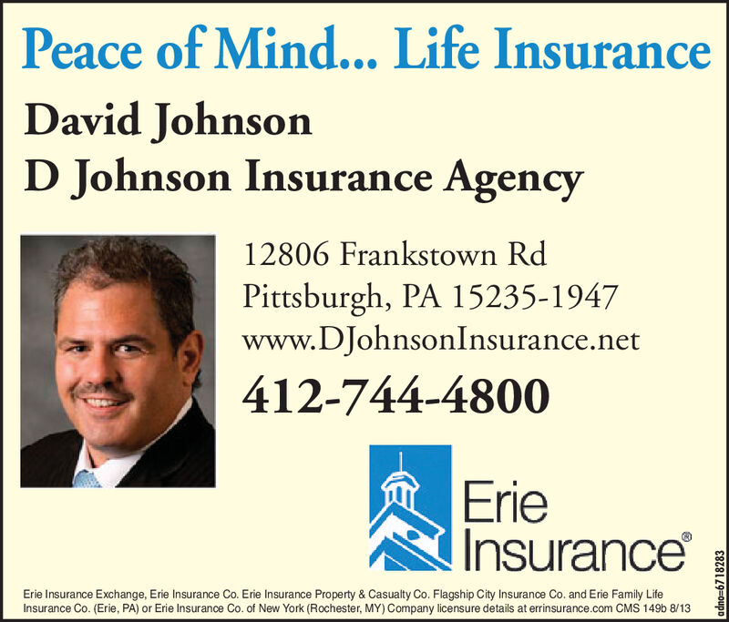 Wednesday September 18 2019 Ad Erie Insurance D Johnson Insurance Agency Tribune Review