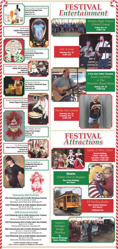 Christmas Schedle 2020 SUNDAY, OCTOBER 13, 2019 Ad   Family Festivals Association, Inc