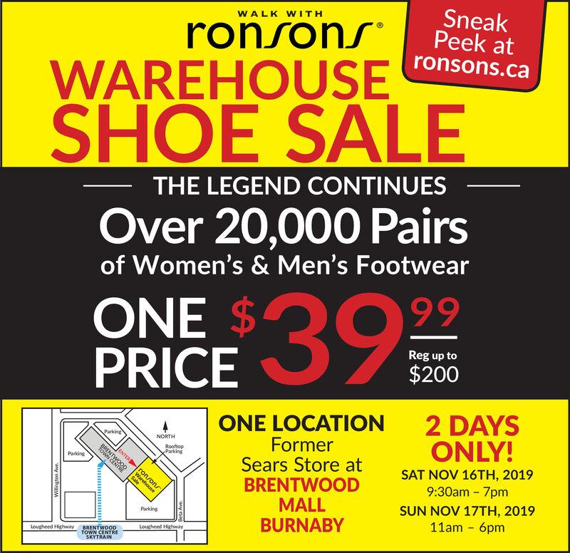 ronsons shoe sale 2019